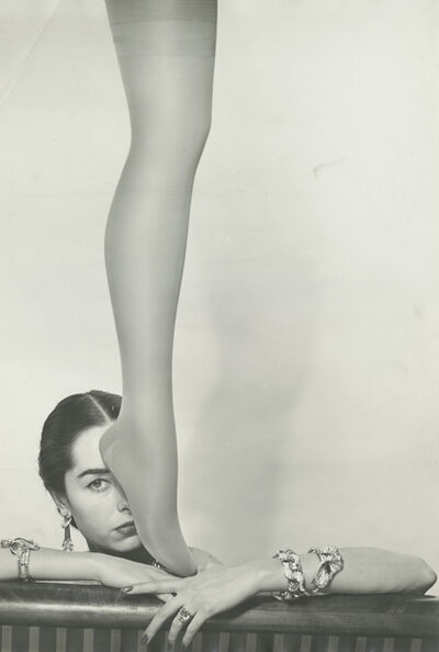 Erwin Blumenfeld, 'Brian Stocking Leg & Shadow, New York', 1952