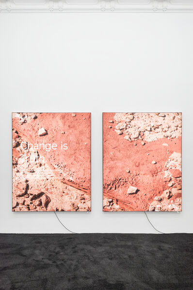 Timur Si-Qin, 'Change is Truth - A + B', 2018