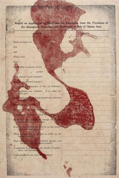 Judy Watson, 'a preponderance of aboriginal blood', 2005