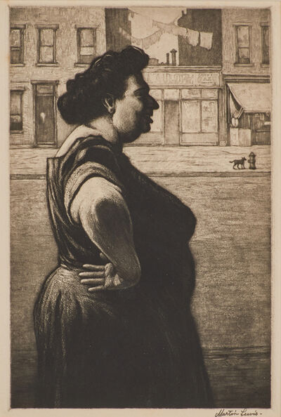 Martin Lewis, 'Boss of the Block', ca. 1939
