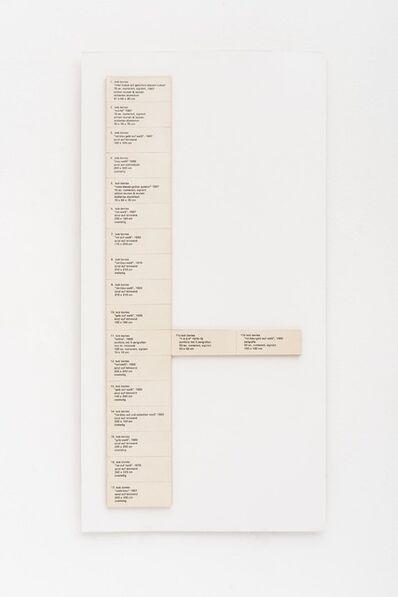 Jac Leirner, 'Exhibition #9 (Bob Bonies)', 1992
