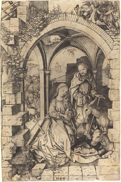 Martin Schongauer, 'The Nativity', ca. 1470/1475