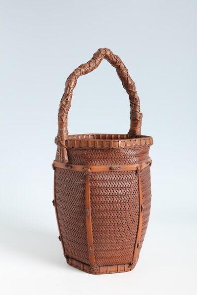 Fukuda Chikuyusai, 'Hexagonal Flower Basket with Bamboo Rhizome Handle (T-4209)', Showa era (1926, 1989), mid 20th century