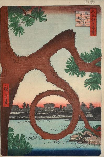 Utagawa Hiroshige (Andō Hiroshige), 'Moon Pine, Ueno', 1857