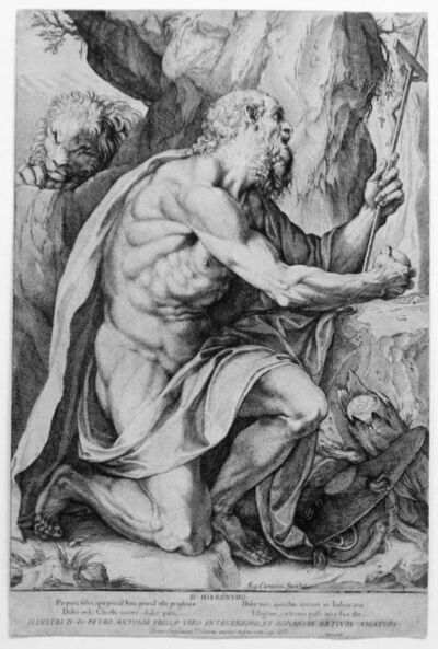 Agostino Carracci, 'St. Jerome in the Wilderness', ca. 1602