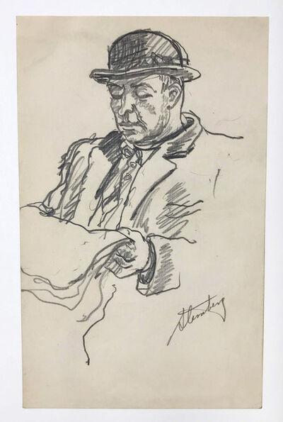 harry sternberg, 'Man with Derby', circa 1945
