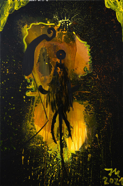 """Jonathan Meese, '""""DIE ROHE MABUSIMEESI """"STRADDIVARRIRRI"""" IM FULLEN DATTELIERZ """"M""""!""""', 2021"""