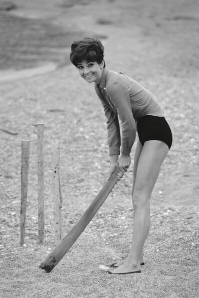Terry O'Neill, 'Audrey Hepburn Plays Cricket, South of France', 1966