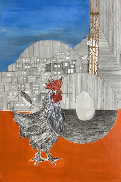 Yazan Abu Salameh, 'Screaming Rooster', 2021
