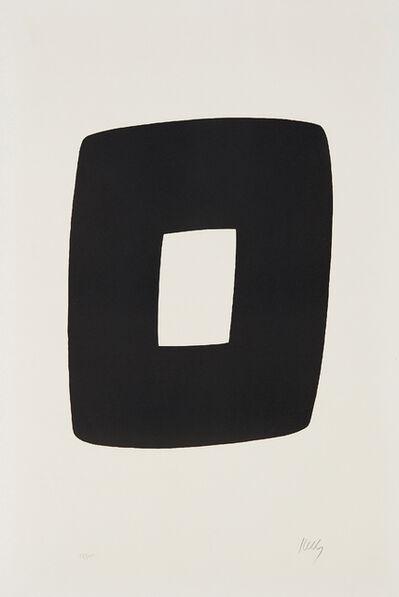 Ellsworth Kelly, 'Black with White', 1965