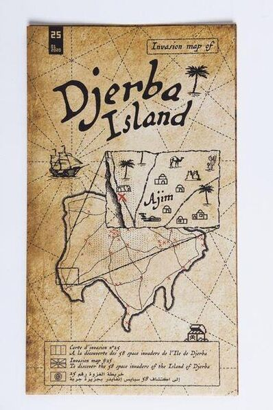 Invader, 'Invasion map of Djerba Island', 2020