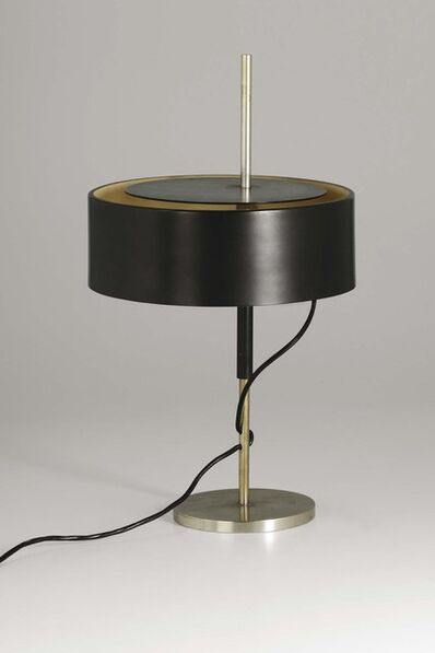 Angelo Ostuni, 'A 243 table lamp with a brass and lacquered aluminum structure', 1953