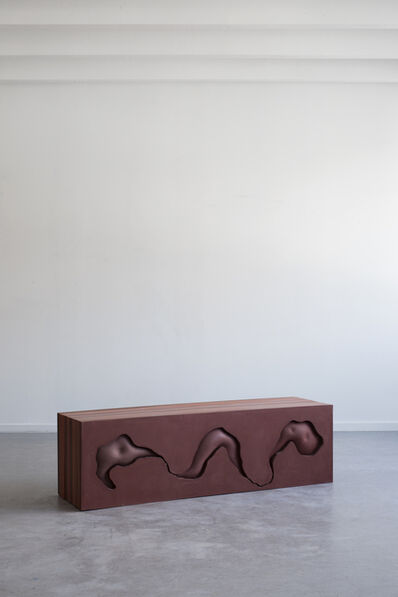 Hilda Hellstrom, 'Traces of your behind (Exhibition Bench) II', 2019