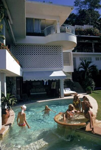 Slim Aarons, 'Pool At La Barranca', 1972