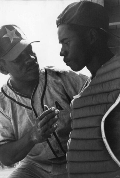 Chester Higgins, Jr., 'Coach and Catcher, Tuskegee, Alabama', 1973