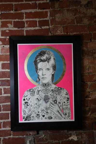 "Rugman, '""Mercury Bowie - Neon Pink Speq. & Turq.', 2019"