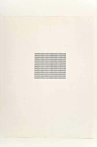 Carl Andre, 'Rock', 1963