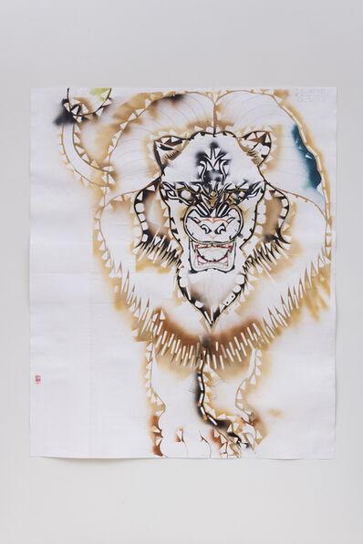 Gajin Fujita, 'Study for Invincible Kings of This Mad Mad World (Lion stencil)', 2018