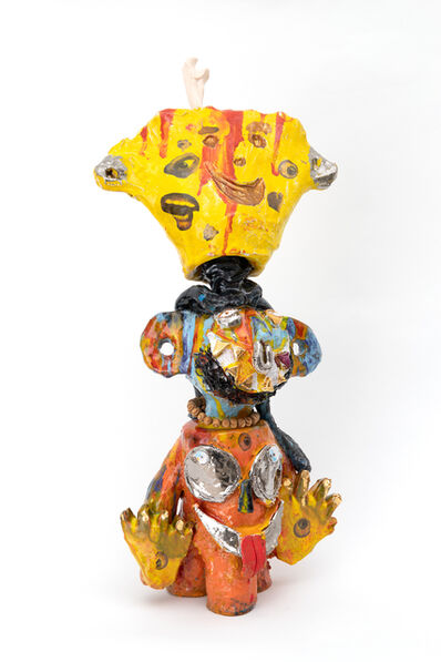Ramesh Mario Nithiyendran, 'Monkey with yellow head', 2019
