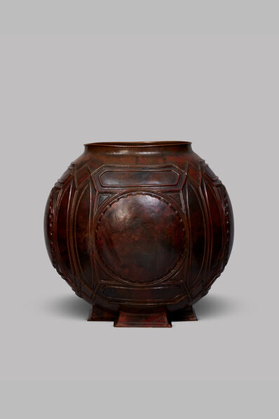 "Frank Lloyd Wright, 'Spherical copper ""Open"" urn ', ca. 1902"