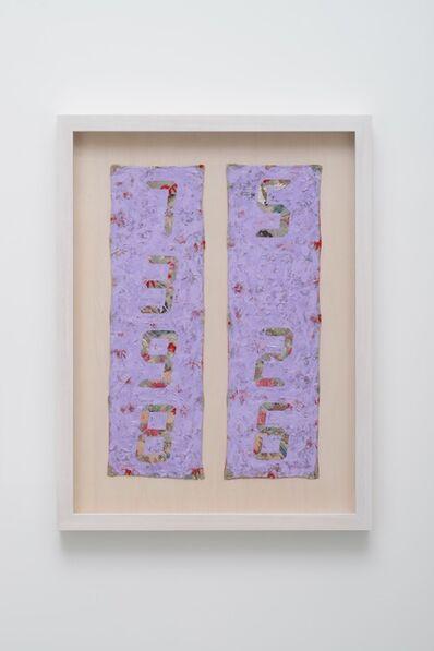 Tatsuo Miyajima, 'Counter Painting on KIMONO SODE-Light Violet ', 2013