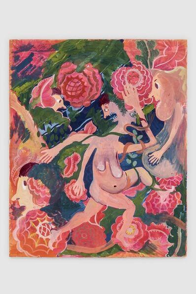 Christina Forrer, 'Woman on Pink Floral Background', 2018