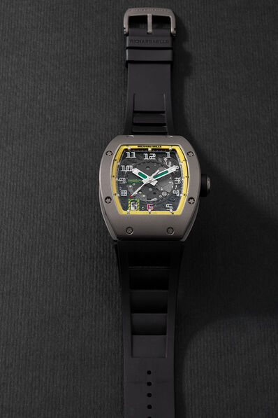Richard Mille, 'A very fine limited edition titanium tonneau-shaped wristwatch with sweep center seconds, semi-instantaneous date aperture, warranty and box, numbered 89 of a limited edition of 300 pieces', Circa 2007