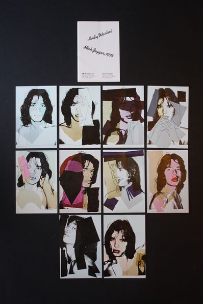 Andy Warhol, 'Mick Jagger Postcards (Set of 10)', 1975