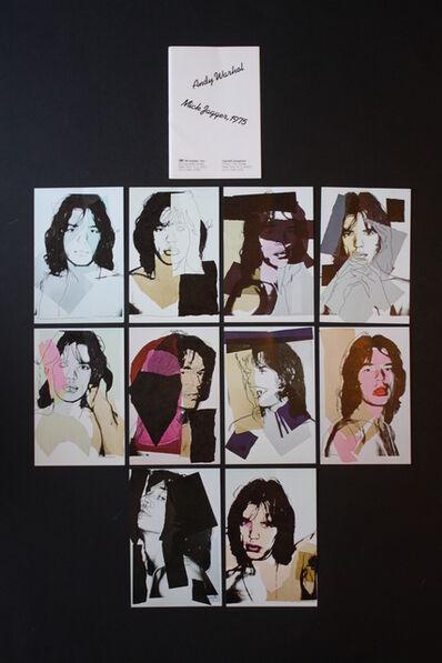 Andy Warhol, 'Mick Jagger Postcards (Set of 10)', 1975