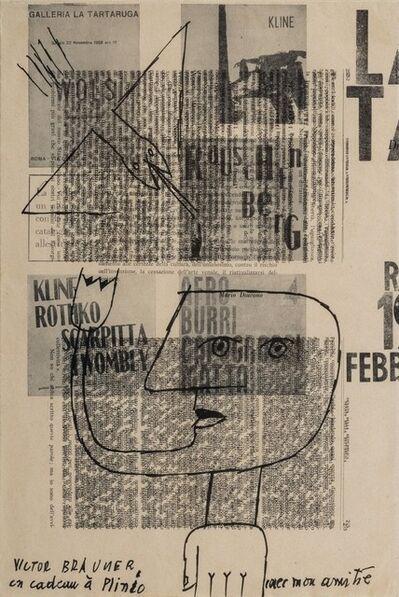 Victor Brauner, 'Un cadeau à Plinio', 1961