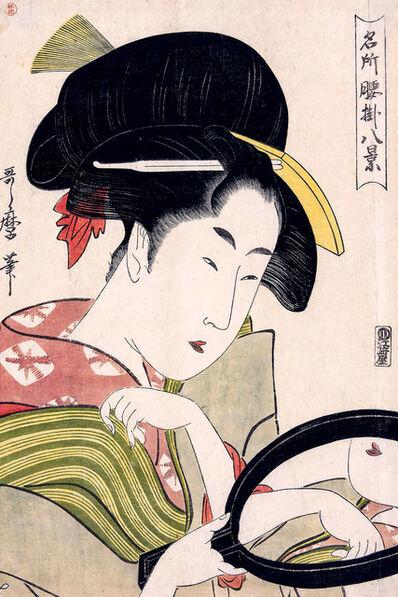 Kitagawa Utamaro, 'Woman Looking at Herself in a Mirror', 1780-1800