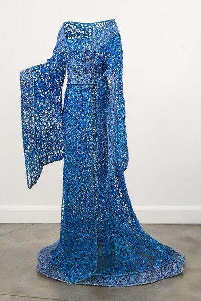 Sophie DeFrancesca, 'Princess - life size, blue, steel, latex, high fashion figurative sculpture', 2011
