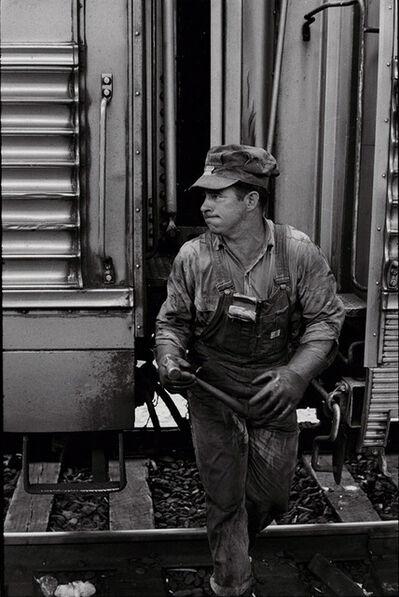 Henri Cartier-Bresson, 'Train Engineer', /1970c