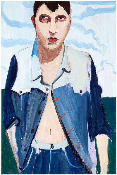 Chantal Joffe, 'Brunette with Clouds', 2013