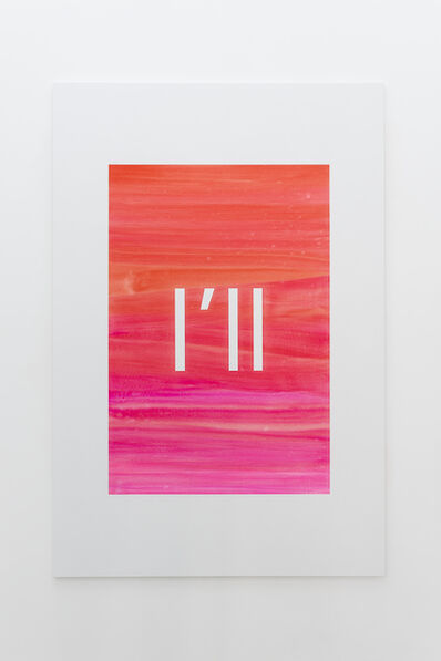 Alex Clarke, 'I'll (permanent scarlet, vermillion, opera pink, pink)', 2019