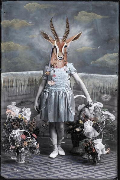 Alexandra Eldridge, 'Gazelle Girl Eating Flowers'