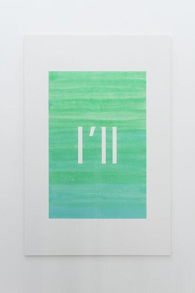 Alex Clarke, 'I'll (emerald green, aqua green)', 2019