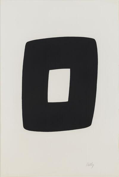 Ellsworth Kelly, 'Black with White', 1964-1965