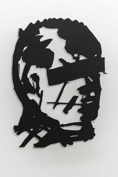 William Kentridge, 'Head (Man with Reducted Eyes)', 2016