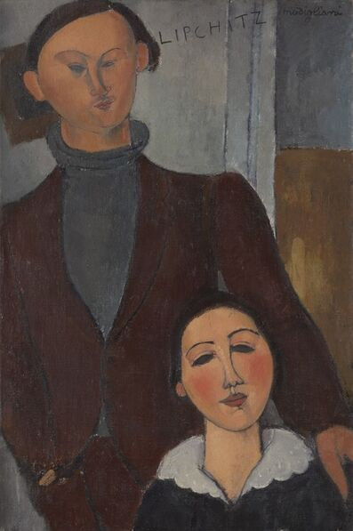 Amedeo Modigliani, 'Jacques and Berthe Lipchitz', 1916