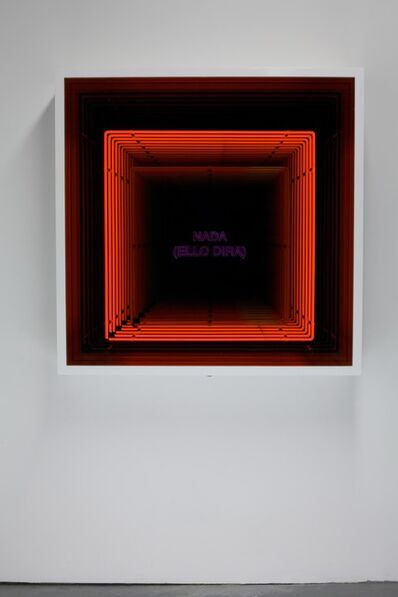 Iván Navarro, 'Nada (Ello Diria) / (Nothing [The Event Will Tell])', 2013