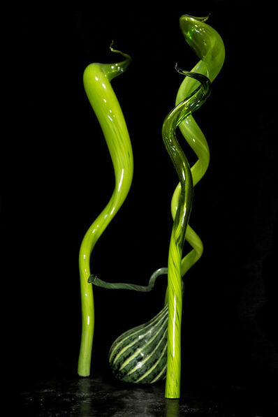 Dale Chihuly, 'Dale Chihuly Mille Fiori IV Green Installation Original Handblown Glass Signed Contemporary Art Sculpture', 2004