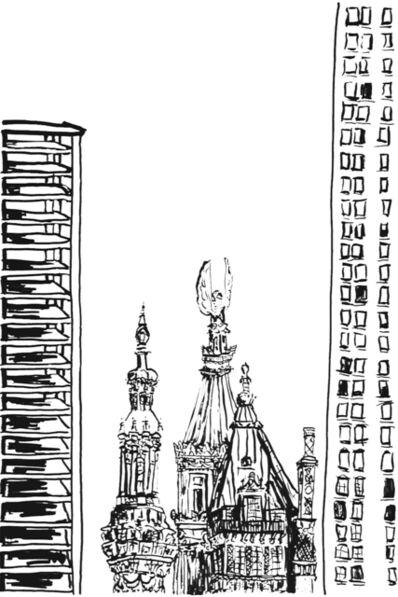 Martha Diamond, 'Towers', 1996