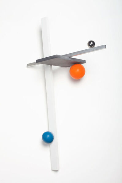 Mathieu Mercier, '3 axis, 3 spheres', 2015