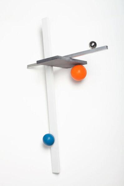 Mathieu Mercier, '3 axis, 3 spheres', 2015