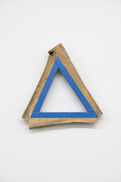 Kishio Suga 菅木志雄, '三角の木組み', 2000