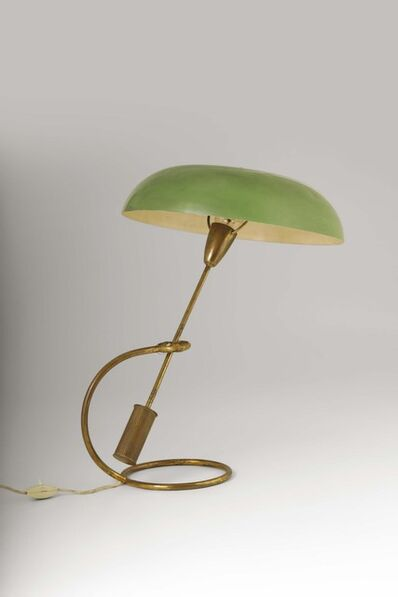 Angelo Lelli, 'An adjustable table lamp with a brass and lacquered aluminum structure', 1953