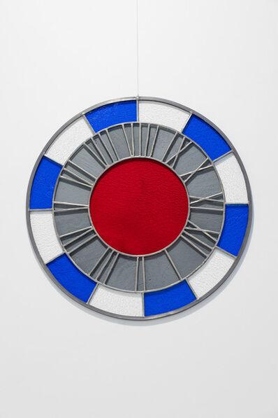 Ugo Rondinone, 'blue white gray red clock', 2012
