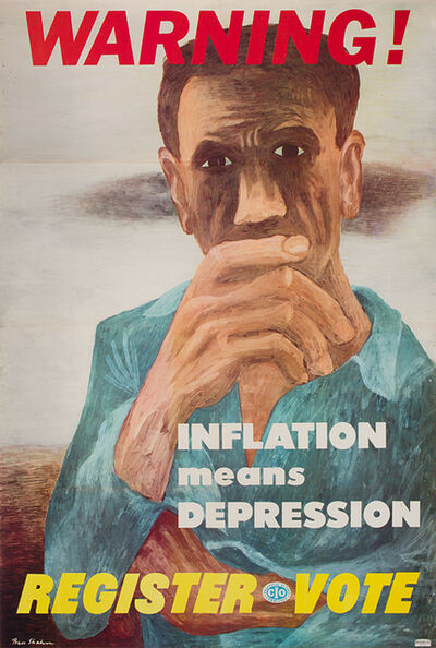 Ben Shahn, 'Warning! Inflation means Depression ', n.d.