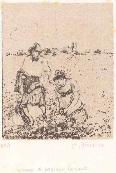 Camille Pissarro, 'Groupe de paysans (Group of Peasants)', ca. 1899
